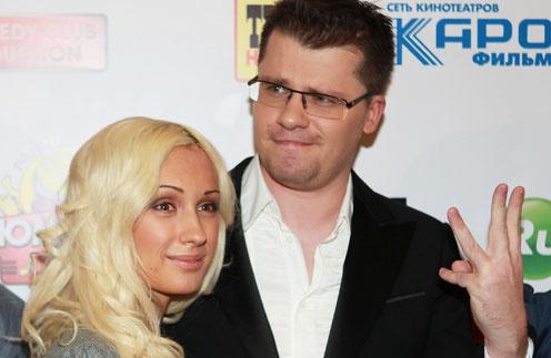 Гарик Харламов с женой Юлией Лещенко