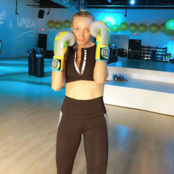Бокс помогает Кристине держать себя в тонусе