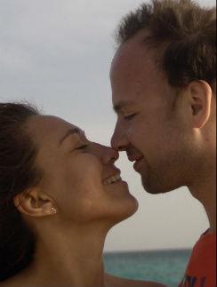 Леся и Антон на отдыхе а Египте, февраль 2012 года