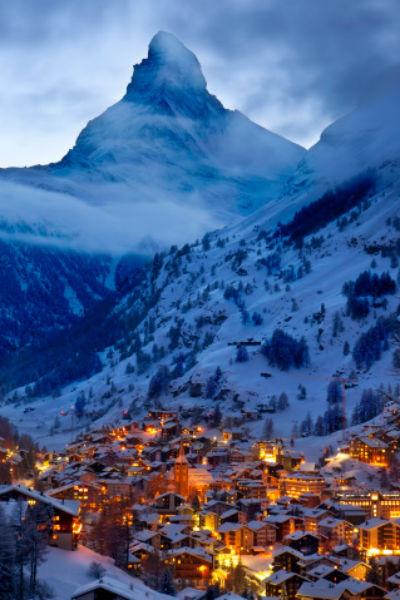Вид на Церматт, как и любой другой швейцарский курорт, завораживает