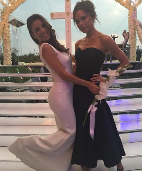 Дизайном свадебного платья Евы Лонгория занималась ее подруга Виктория Бэкхем