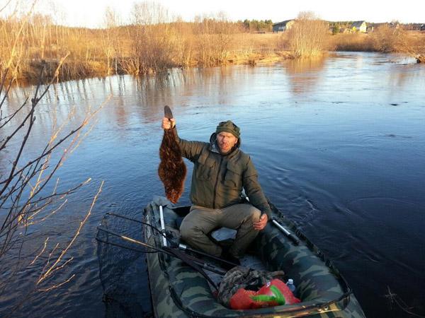Валуев вытащил из воды бобра