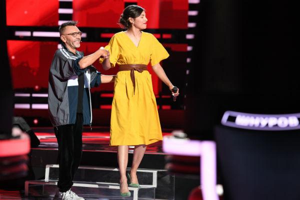 Певица вместе с наставником Сергеем Шнуровым
