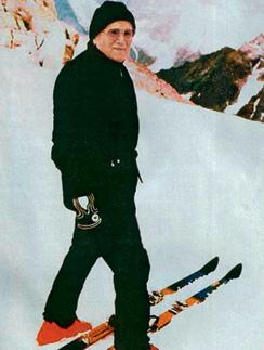 Горные лыжи были тайной страстью Папы. 1984 год