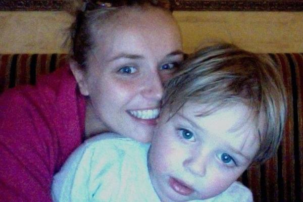 Полина с сыном Андреем