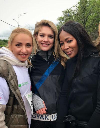 Татьяна Навка Наталья Водянова и Наоми Кэмпбелл