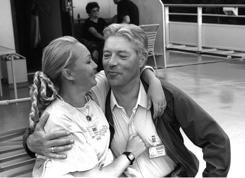 Наталья Гвоздикова с Евгением Жариковым