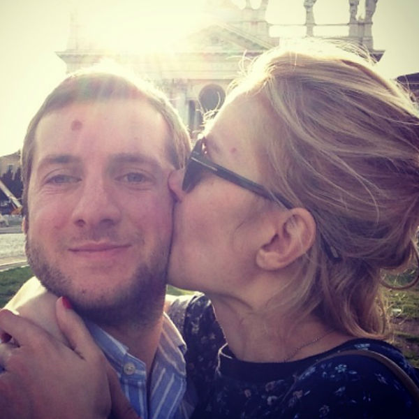 Надежда с любимым мужем Резо Гигинеишвили