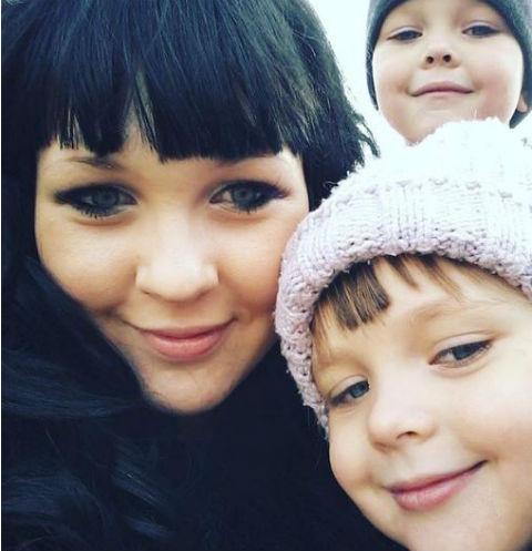 Александра с детьми