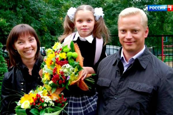 Эрнест Мацкявичюс с женой и дочкой