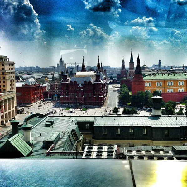Вид с крыши отеля Ritz-Carlton