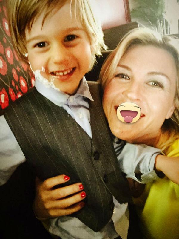 Лика Стар с младшим сыном Марком