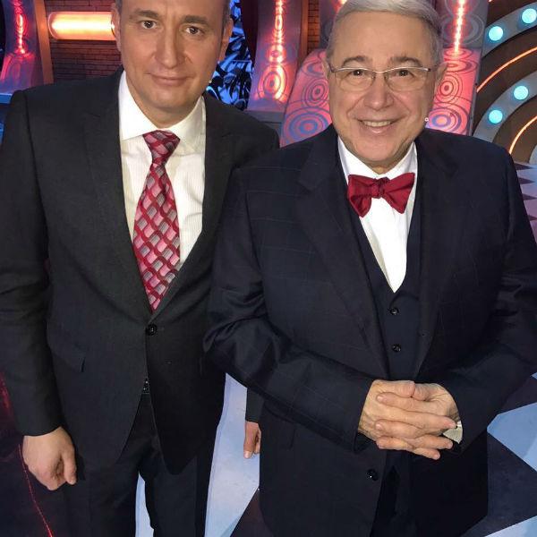 Святослав Ященко с другом Евгением Петросяном