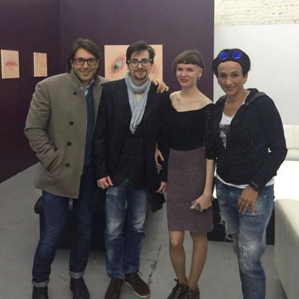 Андрей Малахов шоумен, ведущий, Глеб Скубачевский- художник, Елена Ямлиханова-художник, Айдан Салахова- художник, скульптор.