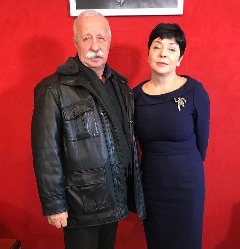 Леонид Якубович и Наталья Барбье