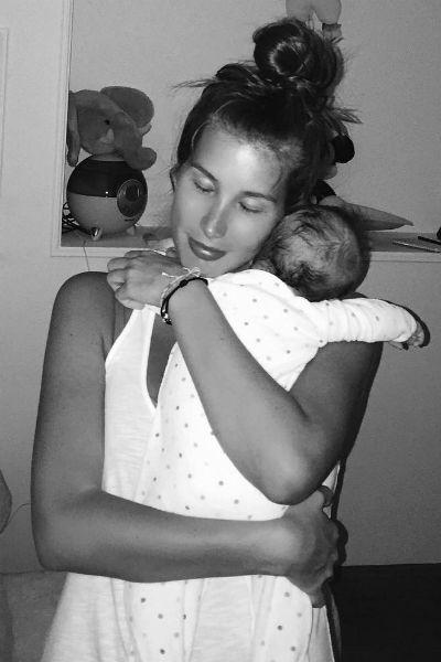Кети Топурия с маленькой Оливией