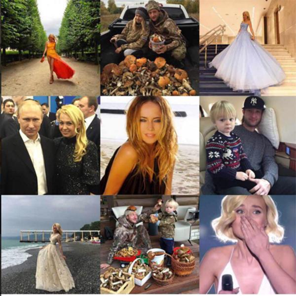 Эти девять фотографий получили максимальное количество лайков от подписчиков Яны Рудковской