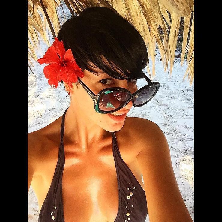 На этом фото Катя отдыхает на Кубе