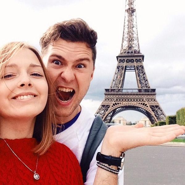 Полина и ее молодой человек Олег