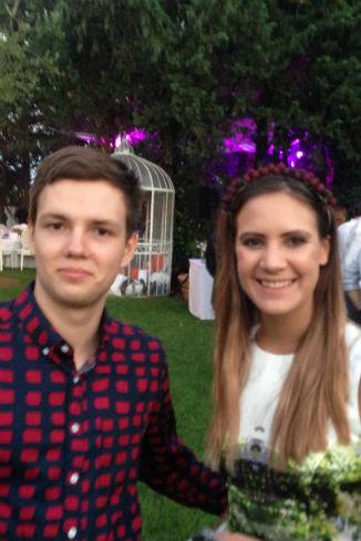 Кира Пластинина и ее двоюродный брат на дне рождения Иды Лоло