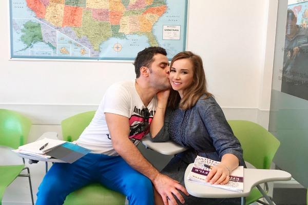 Анфиса Чехова и Гурам Баблишвили выбрали школу EcEnglish в Майами для изучения английского
