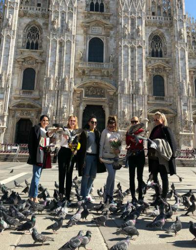 Звездная компания осмотрела достопримечательности Милана