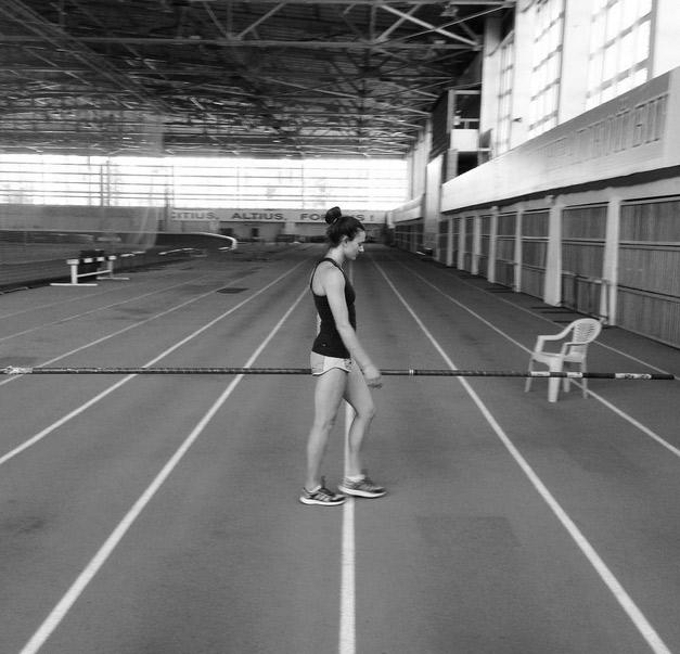 Спортсменка опубликовала фото с тренировки