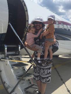 Филипп Киркоров с дочерью Аллой-Викторией и сыном Мартином