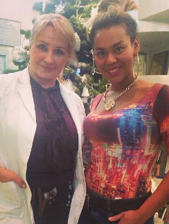 Корнелия Манго с диетологом Риммой Мойсенко