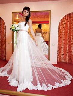 Алиана Устиненко в образе невесты