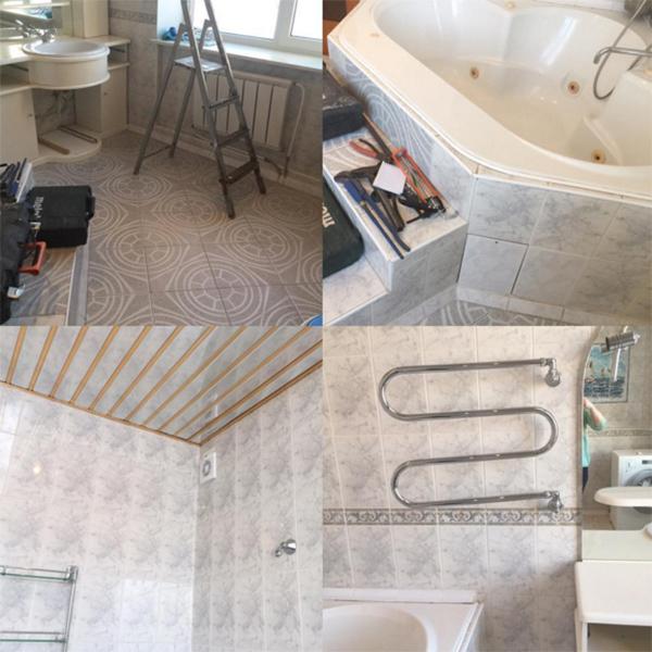 Такой ванная комната в доме Агибаловых была до ремонта