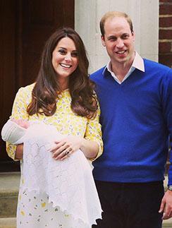 Кейт Миддлтон, принц Уильям и Шарлотта Елизавета Диана