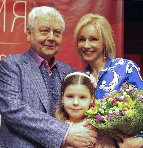 Олег Табаков и Марина Зудина с общей дочерью Марией