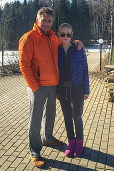 Дмитрий Песков с дочерью Елизаветой