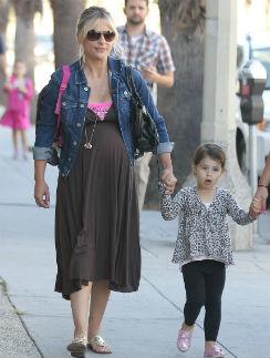 Сара Мишель Геллар с дочерью Шарлоттой Грейс