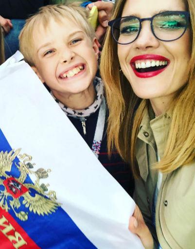 Наталья Водянова с сыном
