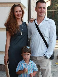 Екатерина Климова и Игорь Петренко с сыном Матвеем