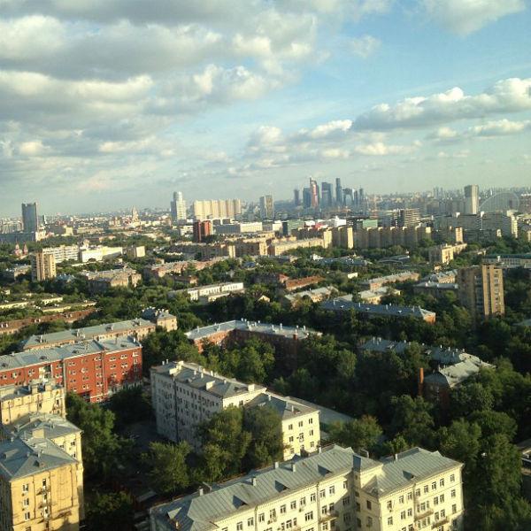Вид из окна новой квартиры Чеховой