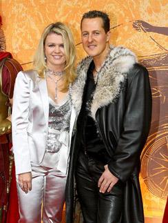 Михаэль Шумахер с женой Коринной в Париже