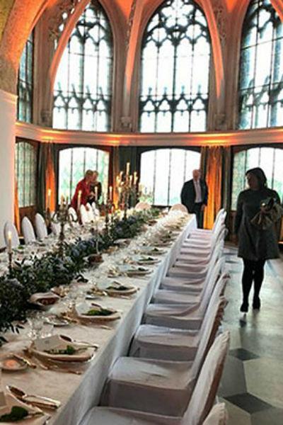 Церемония крещения проходила в средневековом замке