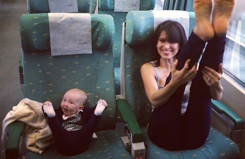 Хилария Томас с дочкой Кармен
