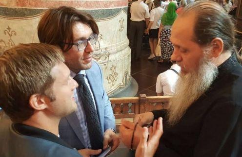 Мы с Борисом Корчевниковым на празднике Успения в Кремле