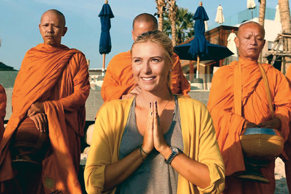 Отдохнуть душой и телом Шарапова сможет в Тибете