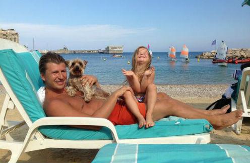 Алексей Ягудин с дочерью Елизаветой