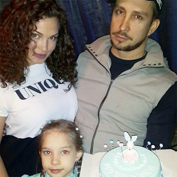 Данко с женой Натальей и старшей дочкой Софией