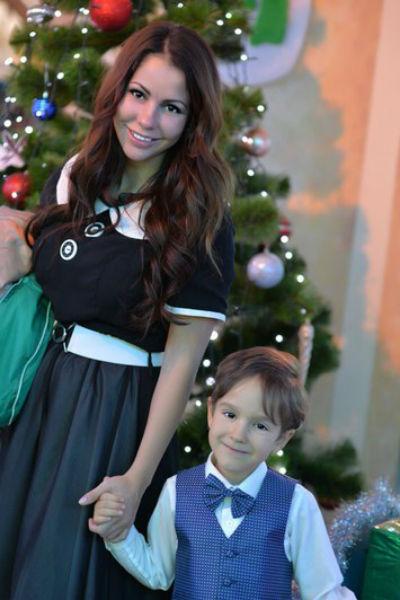 Елена Беркова с сыном