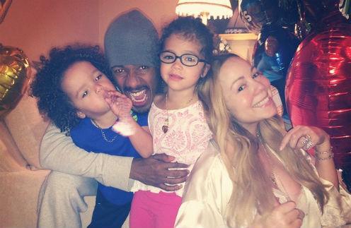 Мэрайя Кэри и Ник Кэннон с детьми