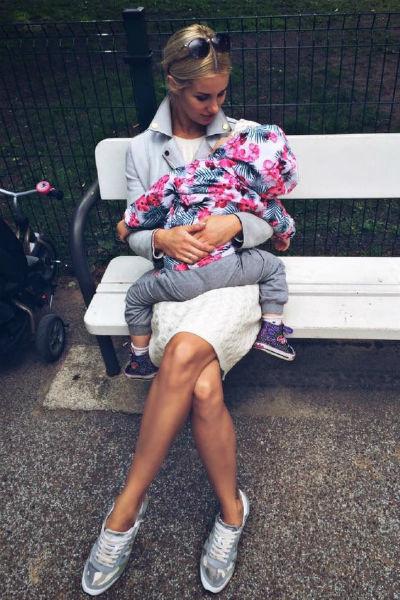 Избранница Владимира Юлия с дочерью