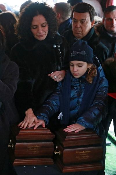 Вдова Дмитрия Хворостовского Флоранс, дочь артиста Нина и Иосиф Кобзон