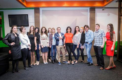 Андрей Малахов и студенты факультета журналистики РГГУ в офисе компании «Апостол»